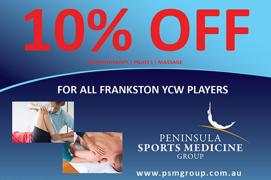 10% Discount to all Frankston YCW members